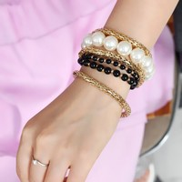 Shiny Gift New Arrival Great Deal Awesome Hot Sale Korean Stylish Accessory Pearls Set Bracelet [6586324487]