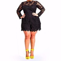 Be Stretchy plus Size Romper