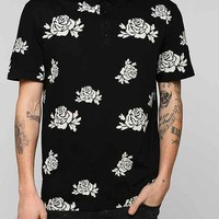 Your Neighbors Roses Polo Shirt - Black