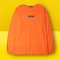 """PaPAo"" Letter Print Long Sleeve Sweatshirt Sweater Shirt Top Blouse"