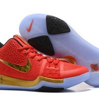 Nike Kyrie Irving 3 Red/Gold Sport Shoes US7-12