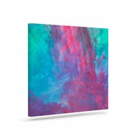 "NL Designs ""Bold Choice"" Teal Painting Canvas Art"
