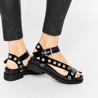 ASOS FOREFRONT Chunky Flat Sandals at asos.com