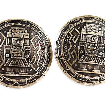 Mexican Tlaquepaque Sterling Silver Cuff Links