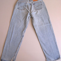 Vtg Levi's 560 Loose Fit Mom Jeans High Waisted 16 Straight Leg 33""