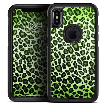 Vibrant Green Leopard Print - Skin Kit for the iPhone OtterBox Cases