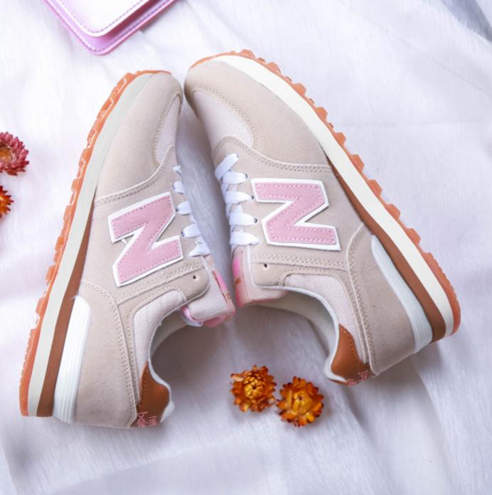 Image of New balance Fashionable and comfortable leisure sports Women shoes Dark grey green