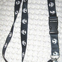"Lanyard/Landyard Black and White Jack Skeleton 15"" lanyard-New!!!Jack Skeleton"