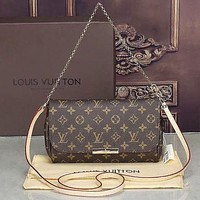 Louis Vuitton LV Women Shopping Leather Satchel Shoulder Bag