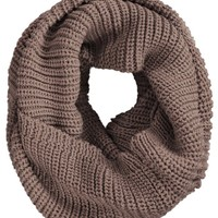 KMystic Chunky Thick Knitted Winter Infinity Circle Scarf (Brown)