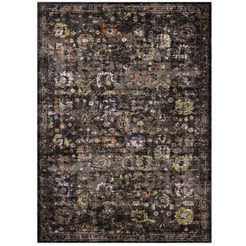 Minu Distressed Persian Medallion 5x8 Area Rug