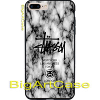 New Rare Stussy Logo Marble Design Art Print On Hard CASE iPhone 6/6s 6s+ 7 7+
