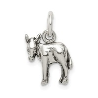 Sterling Silver Antiqued Donkey Charm