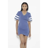 Instant Replay Dress-Blue