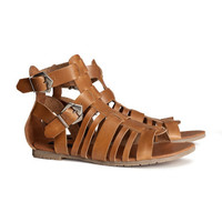 Leather sandals - from H&M