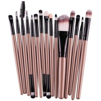 Maange 15pcs/Sets Makeup Brushes Eye Shadow Foundation Eyebrow Lip Brush Make up Brushes Tool Synthetic Hair Maquiagem 4 Colors