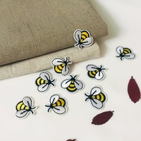 2PCS tiny bee patch-iron on patch-iron on patch-gorgeous-embroidered -patch for jacket -cute-applique