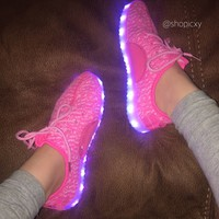 Light Up Knit Sneakers from Shop Icxy