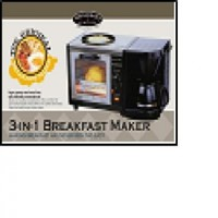 Smart Planet 3-in-1 Breakfast Maker: Toaster oven Coffee Maker and Frying Pan all in 1 set