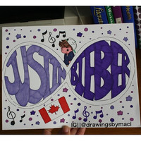 Justin Bieber Forever Drawing by Drawingsbymaci on Etsy