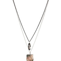 Kenneth Cole New York Shell & Faceted Bead Double Pendant Necklace - B