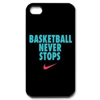 Custom Basketball Never Stops Cover Case for iPhone 4 4S IP-31159