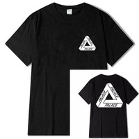 Euro Size Skateboards Brand Palace O-Neck T shirt Good Quality Cotton T shirt Men and Women Skate Clothing Palace T-shirt For Ma