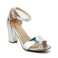 Women's Buckle Chunky Sandals