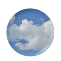 sunny cloud plates from Zazzle.com