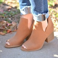Headed Out Booties - Cognac