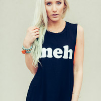 """""""Meh"""" Muscle Graphic Tank"""