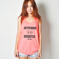Gryffindor Quidditch Shirt Harry Potter Shirt Tank Top Tunic Neon T Shirt Tshirt