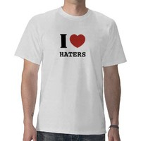 I heart haters t shirt from Zazzle.com