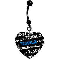 I Love Tequila Belly Ring | Body Candy Body Jewelry
