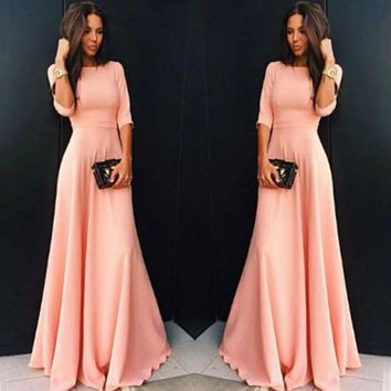 Long Sleeves Prom Maxi Dress