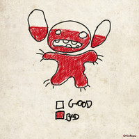 Stitch good&bad meter.... Art Print by Emiliano Morciano (Ateyo)