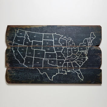 Wood USA Wall Map - World Market