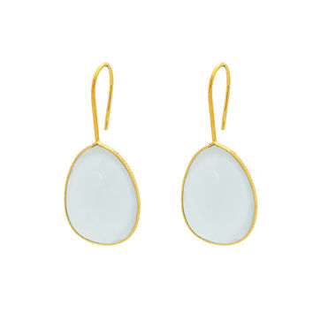 18k Gold Plated Moon Stone Earrings