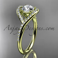 14kt yellow gold diamond wedding ring, engagement ring ADLR383