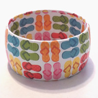 Flip Flop Bangle Bracelet, Summertime Accessory, Teen Birthday Gifts, Beach Day jewelry