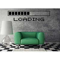 Wall Vinyl Sticker Decal Cool Gamer Stuff Computer Loading a Video Game Unique Gift (ig1169)