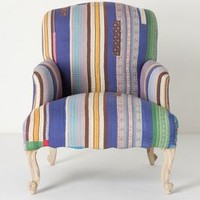 Stitched Kantha Chair by Anthropologie Blue Motif One Size Furniture