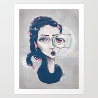 Rare Royal through the looking glass Art Print by bengeiger9