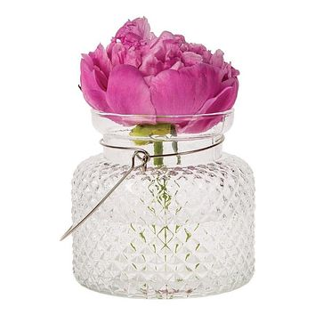 Marion Clear Hanging Mason Jar Candle Holder and Vase