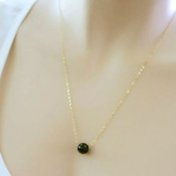Natural Stone Necklace Pendants, Simple Gold Necklace, Gold Chain Necklace Gift