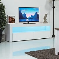 LED Media  Center With Shelves and Drawers