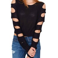 Deadline Sweater Top - Black