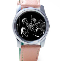 2 Friends Art Illustration Wrist Watch