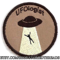 UFOlogist Geek Merit Badge Patch
