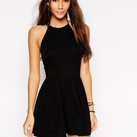 ASOS 90s Halter Playsuit
